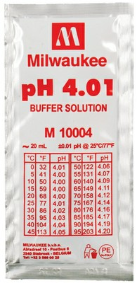 Buffer solution for calibrating pH.  A pH 7.0 can also be used to calibrate if solutions are near this pH.