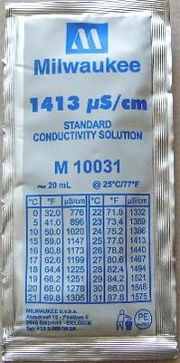Sachet standard to measure conductivity 1413 us/cm