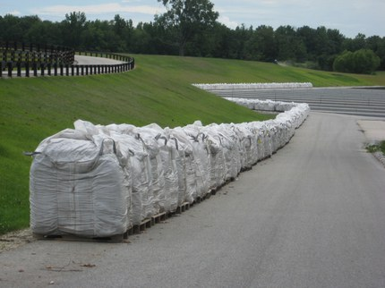 Wholetree substrate delivered to a nursery.