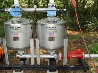 Flow Guard drip irrigation mobile sand filter rig