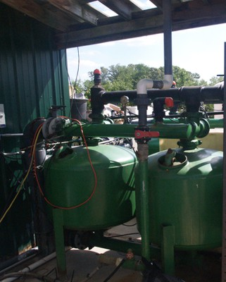 System used to inject nutrients into irrigation system