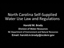 Harold M. Brady of the Division of Water Resources sits down at the Field Intelligence desk to discuss water use regulations in North Carolina.  He answers questions about nursery-specific water use amounts, and how water capture, re-use, replenishment, and recycling affects overall water usage amounts.